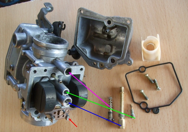 Stripping down, checking and rebuilding a TTR250 carburettor